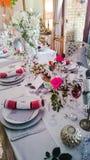 Christmas table Stock Photo