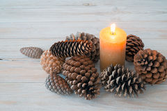Christmas table center Royalty Free Stock Photography