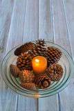 Christmas table center Royalty Free Stock Image