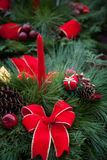 Christmas table centerpeice Royalty Free Stock Photography