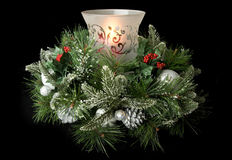 Christmas Table Centerpiece Stock Photography