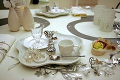 Christmas table decoration Stock Photos