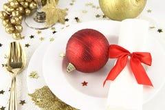 Christmas table decoration Stock Photography
