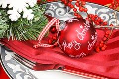 Christmas table decoration Royalty Free Stock Photos