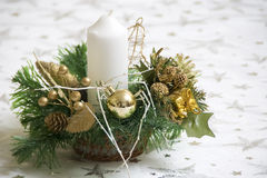 Christmas table decoration Stock Photo