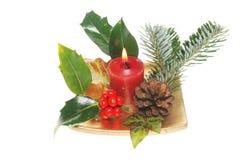 Christmas table decoration royalty free stock photo