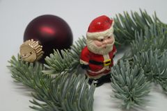 Christmas table Decoration with a little Santa Royalty Free Stock Photos