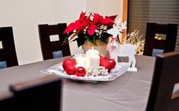 Christmas table decoration Stock Image