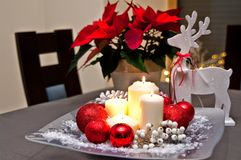 Christmas table decoration Royalty Free Stock Image