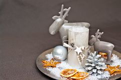 Christmas table decoration Stock Photography