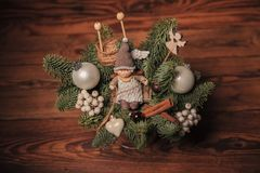 Christmas table decoration Royalty Free Stock Photography