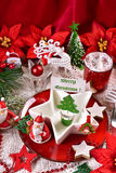 Christmas table decoration Stock Image