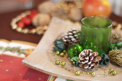 Christmas table decorations Royalty Free Stock Photo