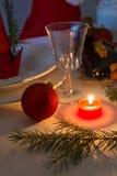 Christmas table deko Stock Photos