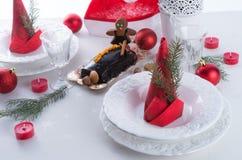 Christmas table deko Royalty Free Stock Photography