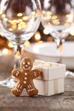 Christmas table detail Stock Image