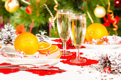 Christmas table Royalty Free Stock Photos