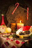Christmas table festive supper setting eve Royalty Free Stock Photography