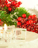 Christmas table layout Royalty Free Stock Photography