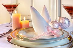 Christmas table in pastels Royalty Free Stock Photography