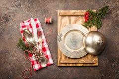 Christmas table setting Stock Images