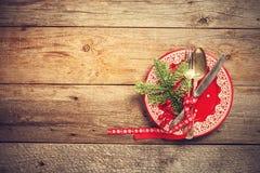 Christmas table setting. stock images