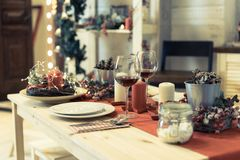 Christmas table royalty free illustration