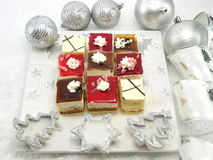 Christmas table set Royalty Free Stock Photos