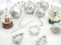 Christmas table set Stock Photography