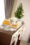 Christmas table set Royalty Free Stock Photo