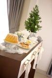 Christmas table set royalty free stock photo