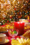 Christmas table set Royalty Free Stock Photography