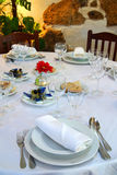Christmas Table Set Royalty Free Stock Images