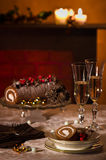 Christmas Table Setting Stock Photo