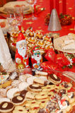 Christmas table setting. And biscuits Stock Image