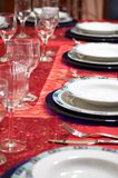 Christmas Table setting. A table setting for Christmas holidays. Also suitable for other celebration (christmas,new year,weddings Royalty Free Stock Photography