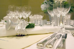 Christmas Table Setting 2. Complete table setting for a formal Christmas dinner Stock Image