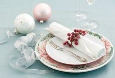 Christmas table setting Royalty Free Stock Photo