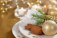 Christmas table setting Stock Photos