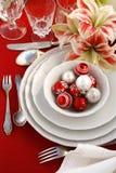 Christmas table setting Stock Photos