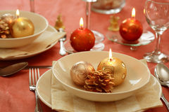 Free Christmas Table Setting Royalty Free Stock Photos - 2897158