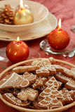 Christmas table setting Stock Image