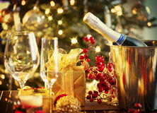 Free Christmas Table Setting Royalty Free Stock Photo - 35464995