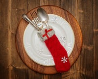 Christmas Table Setting Stock Images