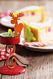 Christmas table setting with candles Royalty Free Stock Photography