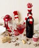 Christmas table setting. Christmas decorations. New Year Celebra Royalty Free Stock Photography