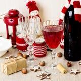 Christmas table setting. Christmas decorations. New Year Celebra Royalty Free Stock Photos