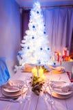 Christmas table setting for Christmas eve Stock Photo