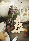 Christmas table setting. Royalty Free Stock Photography