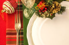 Christmas table setting. Royalty Free Stock Photos